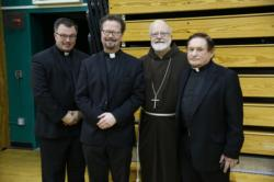 Priests honor three of their peers at Chrism Mass Luncheon