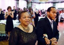 Smith, DesRoses honored at Healy Award Dinner