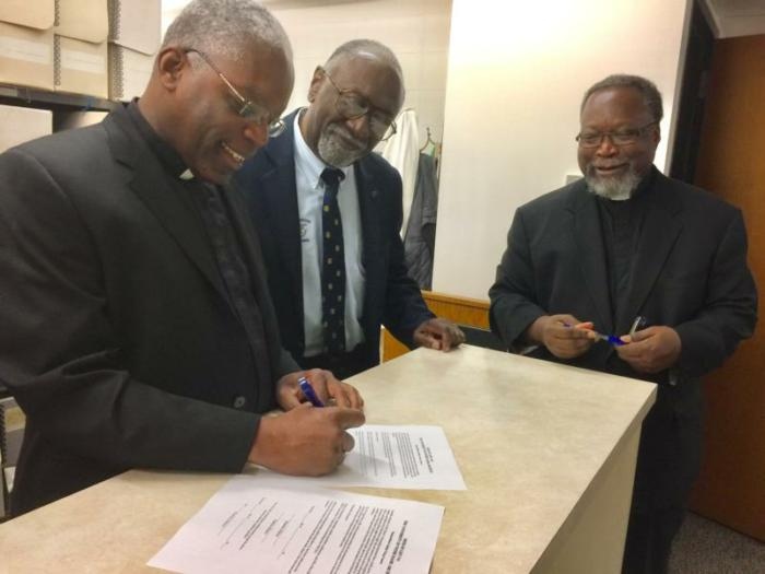 Clergy deliver documents about black Catholic movement to ...