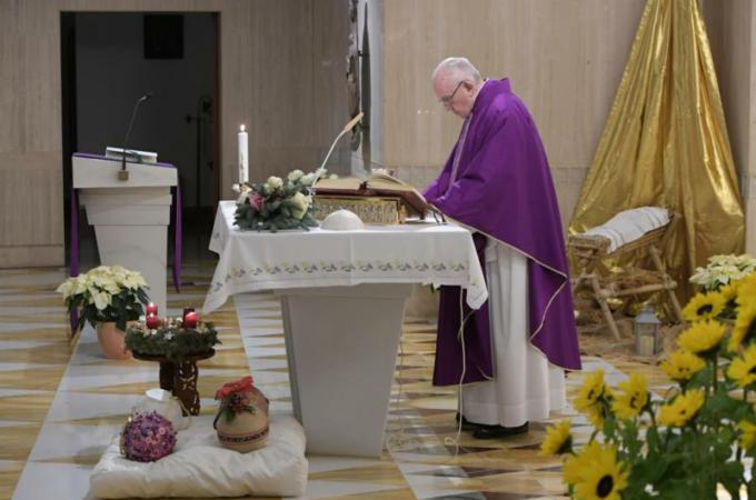 Everything changes' with Christ's birth, pope says